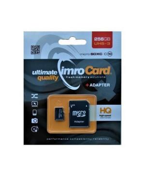 Pamäťová karta Imro microSDXC 256 GB 85 MB/s/43 MB/s + adaptér