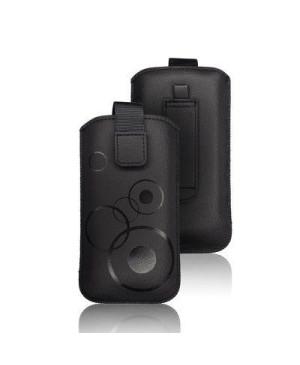 Univerzálne puzdro Forcell Deko pre Apple iPhone 3G/3Gs/4/4s čierne