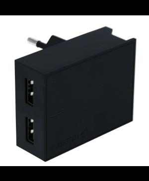 Sieťová nabíjačka Swissten Smart IC 2x USB + kábel USB-C čierna