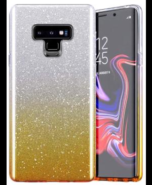 Silikónové puzdro na Huawei P Smart 2021 Bling Shine strieborno-zlaté