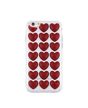 3D valentínske silikónové puzdro Heart 3 pre Samsung Galaxy J3 2017 červené