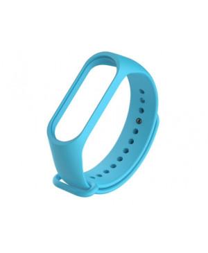 Silikonový náramok pre Xiaomi Mi Band 3/4/5 Svetlo modrý (Bulk)