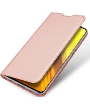 Diárové puzdro na Xiaomi Poco X3 Dux Ducis Skin Pro ružovo-zlaté