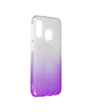 Silikónové puzdro na Samsung Galaxy A20e Shine Bling fialové