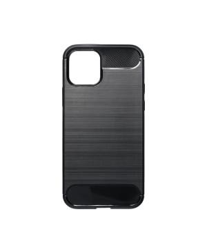 Silikónové puzdro na iPhone 12/iPhone 12 Pro Forcell Carbon čierne