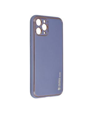 Plastové puzdro na Samsung Galaxy A02S Forcell LEATHER modré