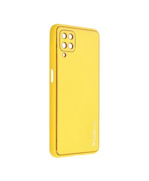 Plastové puzdro na Samsung Galaxy A22 A225 Forcell Leather žlté