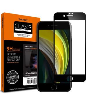 Tvrdené sklo na Apple iPhone 7/8/SE 2020 Spigen GlassTr HD celotvárové čierne