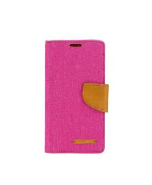 Diarové puzdro Canvas pre Apple iPhone X/XS ružové