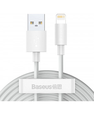 Kábel Baseus Wisdom USB-A/Lightning 8 Pin, 1,5m, 2.4A biely (2ks)