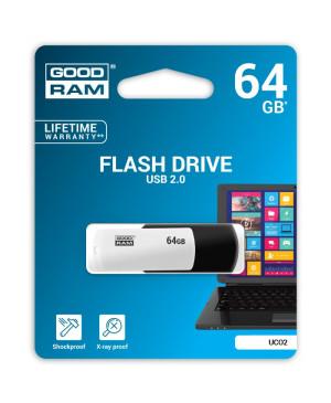 USB kľúč GOODRAM 64 GB USB 2.0 čierno biely