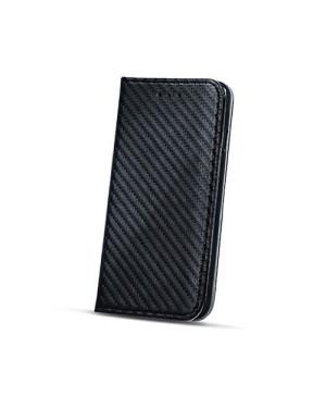 Diarové puzdro Smart Carbon pre Nokia 6 čierne