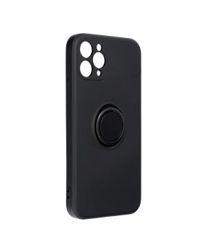 Silikónové puzdro na Apple iPhone 11 Pro Forcell Ring čierne
