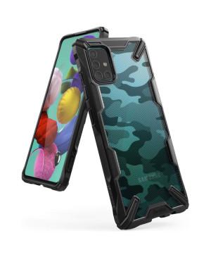 Plastové puzdro Ringke Fusion X pre Samsung Galaxy A51 čierne