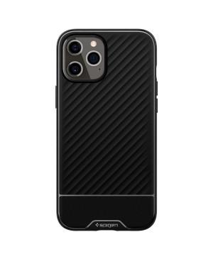 Silikónové puzdro na Apple iPhone 12/12 Pro Spigen Core Armor čierne