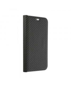 Diárové puzdro na Samsung Galaxy A20s Forcell Luna Carbon čierne