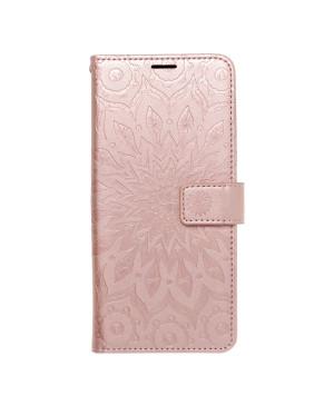Diárové puzdro na Apple iPhone 13 Pro Max Forcell MEZZO mandala ružovo-zlaté