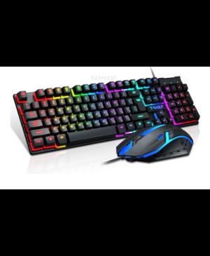 Herná klávesnica + myš T-Wolf TF200 čierna