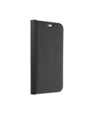 Diárové puzdro Luna Carbon pre Samsung Galaxy A40 čierne