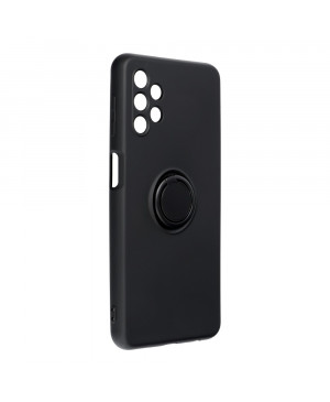 Silikónové puzdro na Samsung Galaxy A52/A52 5G/A52s 5G Forcell Ring čierne