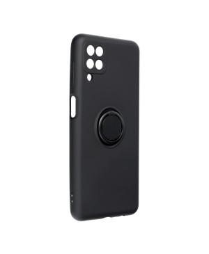 Silikónové puzdro na Samsung Galaxy A12/M12 Forcell Ring čierne