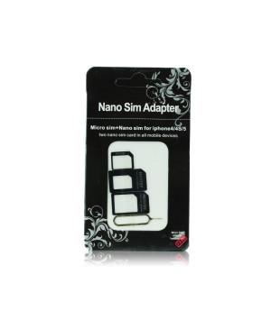 Adaptér pre Nano SIM/Micro, Micro Sim a Nano/Sim (NOOSY 3 v 1)