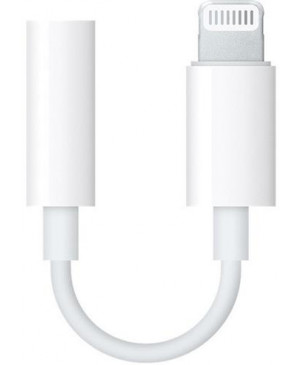 Adaptér z audio 3,5 mm na Apple lightning MMX62ZM/A biely