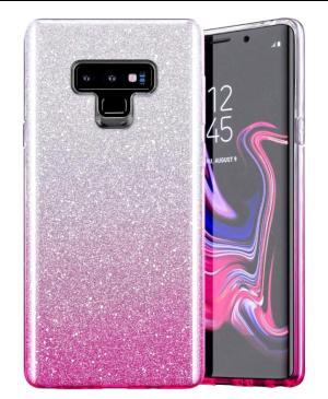 Silikónové puzdro na Samsung Galaxy S21 FE 5G Shine Bling ružové