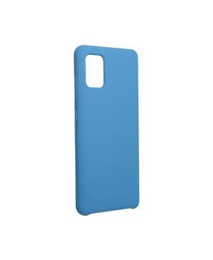 Silikónové puzdro na Samsung Galaxy A51 Forcel Silicone modré