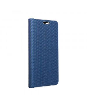 Diárové puzdro na Samsung Galaxy S21 5G Forcell Luna Carbon modré