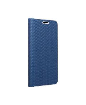 Diárové puzdro na Samsung Galaxy S21 Ultra 5G Forcell Luna Carbon modré