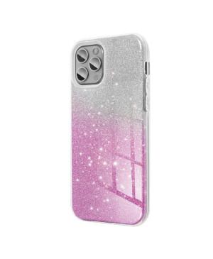 Silikónové puzdro na Samsung Galaxy A02s Forcell Shinig strieborno ružové