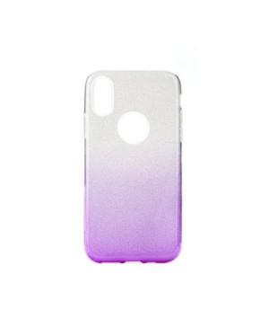 Silikónové puzdro na Samsung Galaxy A71 A715 Shine Bling TPU strieborno fialové