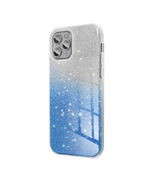 Silikónové puzdro na Samsung Galaxy A70/70s Forcell SHINING strieborno modré