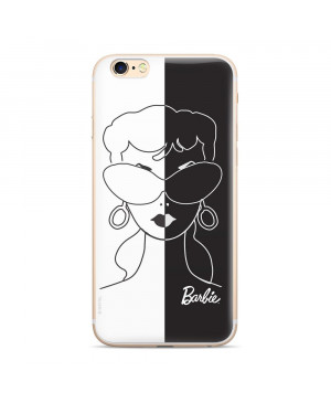 Silikónové puzdro Barbie 003 pre Apple iPhone 7/8 bielo čierne