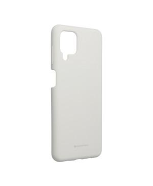 Silikónové puzdro na Samsung Galaxy A12/M12 Mercury Silicone sivé
