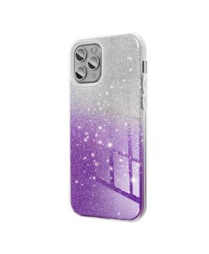 Silikónové puzdro na Samsung Galaxy A02s Forcell Shining strieborno fialové