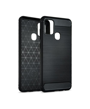 Silikónové puzdro na Samsung Galaxy A12 Forcell Carbon čierne