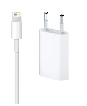 Sieťová nabíjačka Apple MD813 5W + kábel MD818 lightning biela