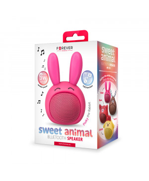 Bluetooth reproduktor Forever Sweet Animal Rabbit Pinky ABS-100