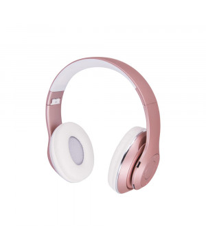 Bluetooth slúchadlá Music Soul BHS-300 ružové