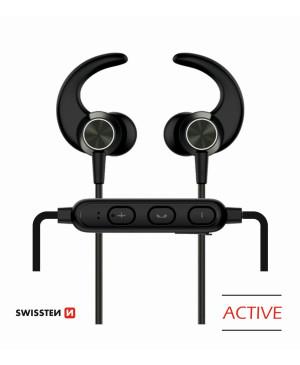 Bluetooth slúchadlá Swissten Active čierne