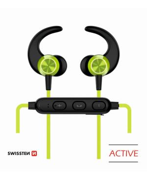 Bluetooth slúchadlá Swissten Active limetkové