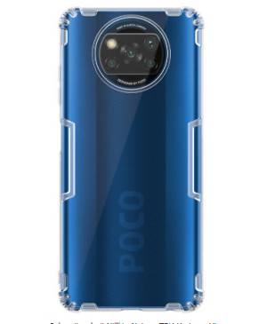 Nillkin Nature TPU Kryt pre Xiaomi Poco X3 Transparentný