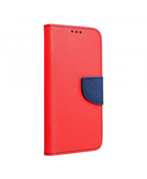 Diárové puzdro na Motorola Moto E7 Fancy červeno-modré