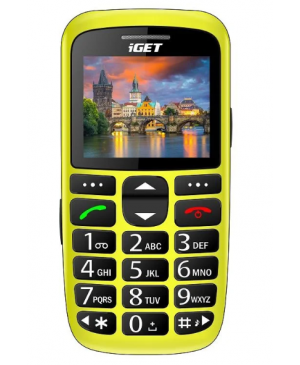 iGET Simple D7, Dual SIM, Yellow - SK distribúcia