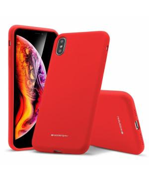 Silikónové puzdro na Samsung Galaxy Note 20 Ultra Mercury i-Jelly Metal červené