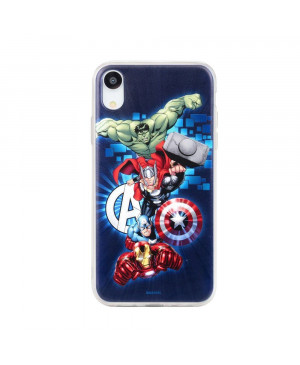 Case with licence Ipho XR ( 6,1 ) Avengers navy blue (001)