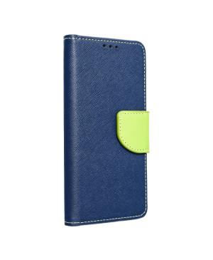 Diárové puzdro na Samsung Galaxy A12 Fancy Book modro limetkové