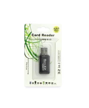 Čítačka pamäťových kariet Micro SD 2.0 čierna